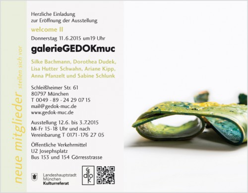 welcomeII-Galerie GEDOKmuc